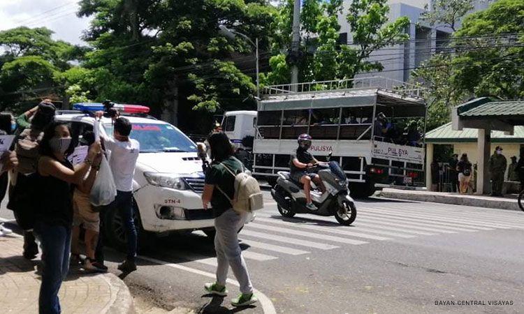 Seven arrested during anti-terrorism bill protest in Cebu City
